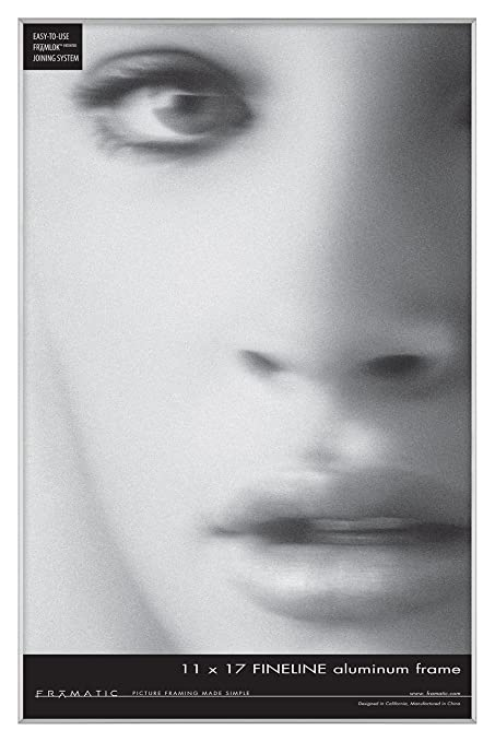 Amazon.com: Framatic Fineline 11x17 Inch Aluminum Frame, Silver ...