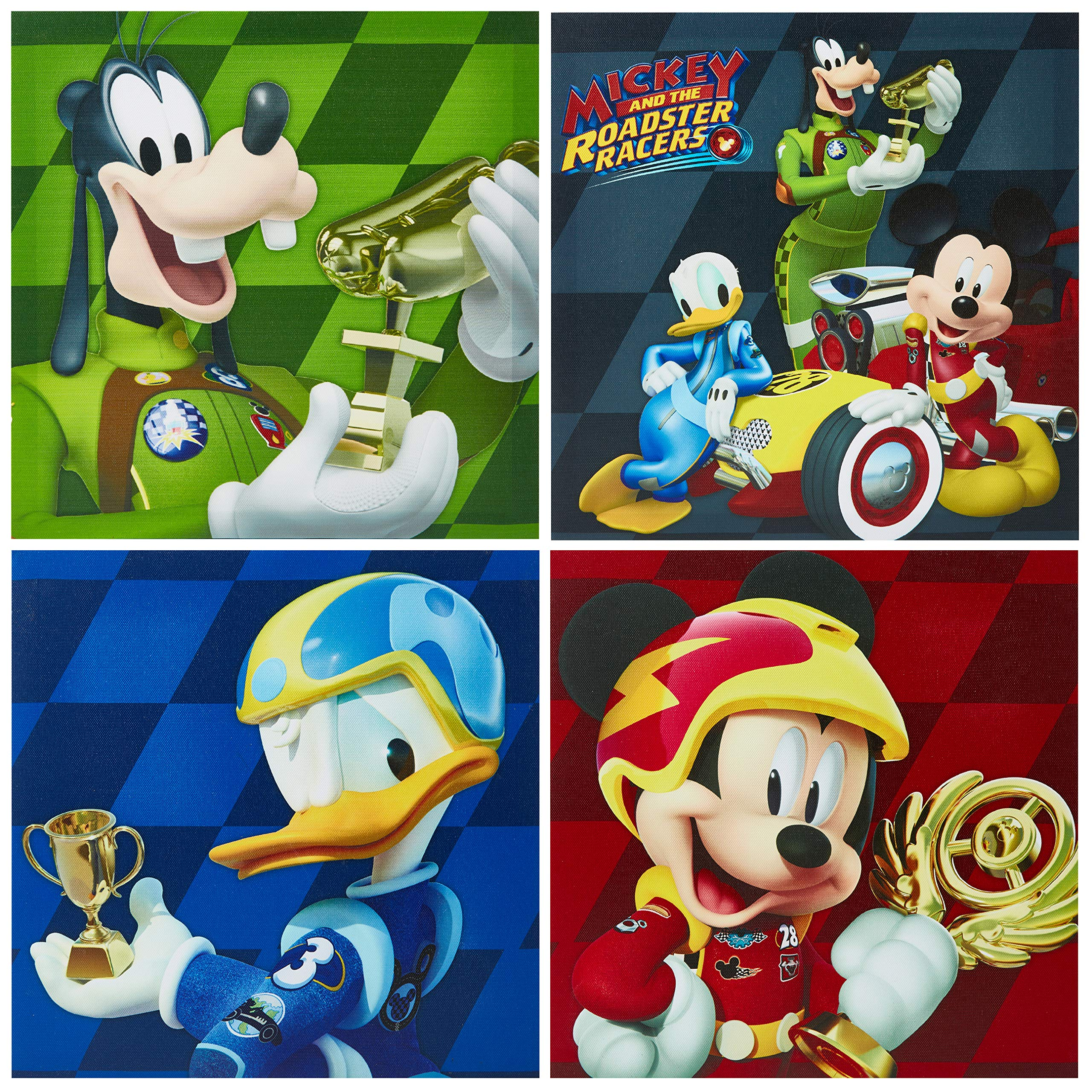 Disney NK320642 Mickey Mouse Wall Art (4 Piece), Multicolor
