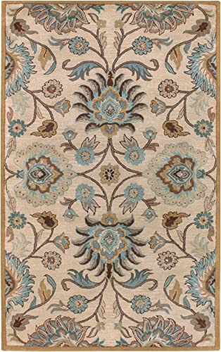 Surya Caesar 2-Feet by 3-Feet 100-Percent Wool Hand Tufted Area Rug