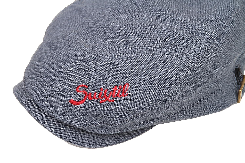 998a45cd91d66 Suixtil Men s Linen-Mix Flat Cap  Amazon.co.uk  Clothing