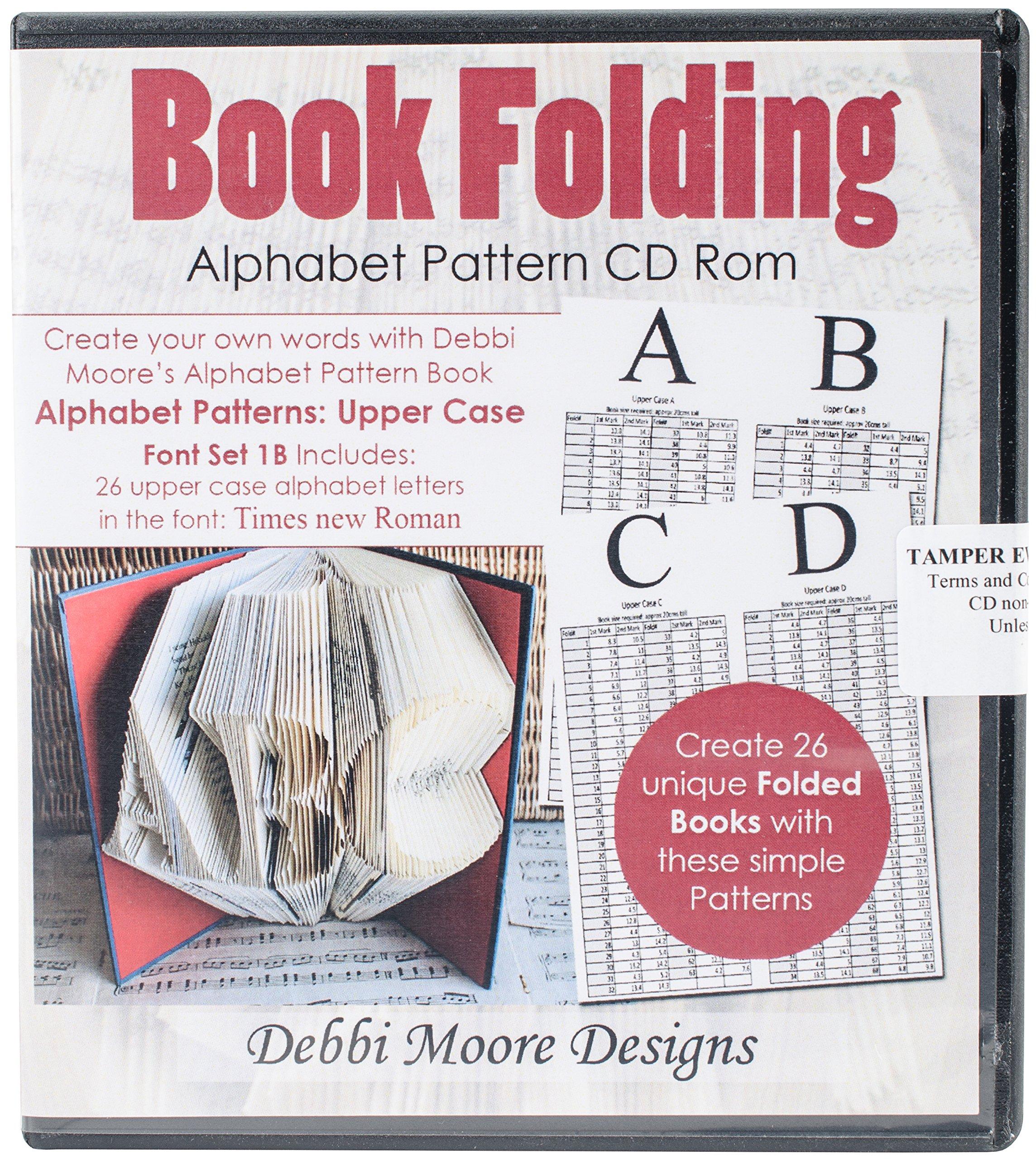 Debbi Moore Designs CDSET372 Debbi Moore CD ROM Book Folding Patterns, Times New Roman Alpha 1B, Upper