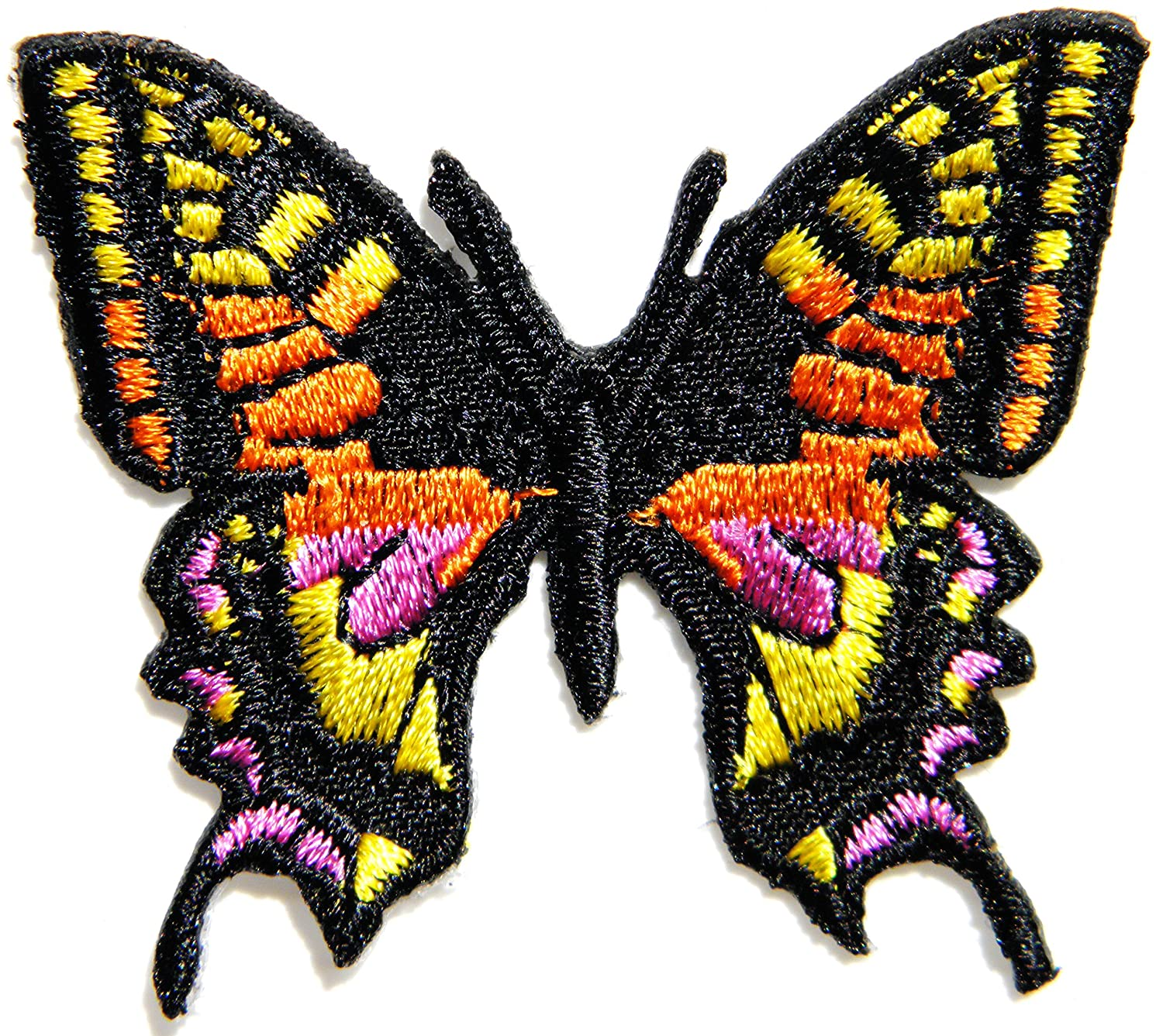 Amazon.com: Butterfly Wild Animal Punk Rock Hippie Retro Peace Tatoo Lady Rider Biker Tatoo Kid Jacket T-shirt Patch Sew Iron on Embroidered Applique Sign ...