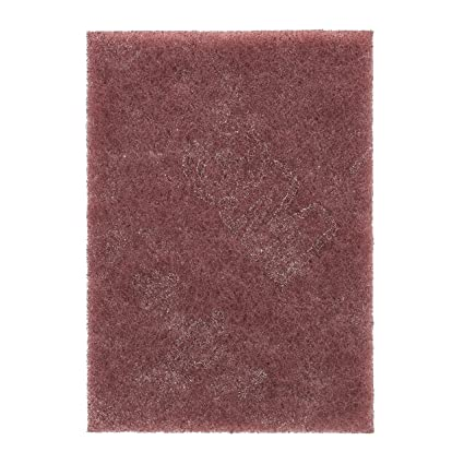 3M Scotch-Brite Handpad 7447 – General purpose alternative to sandpaper and  steel wool – 158 x 224 mm, very fine, maroon - 1x 20 pads