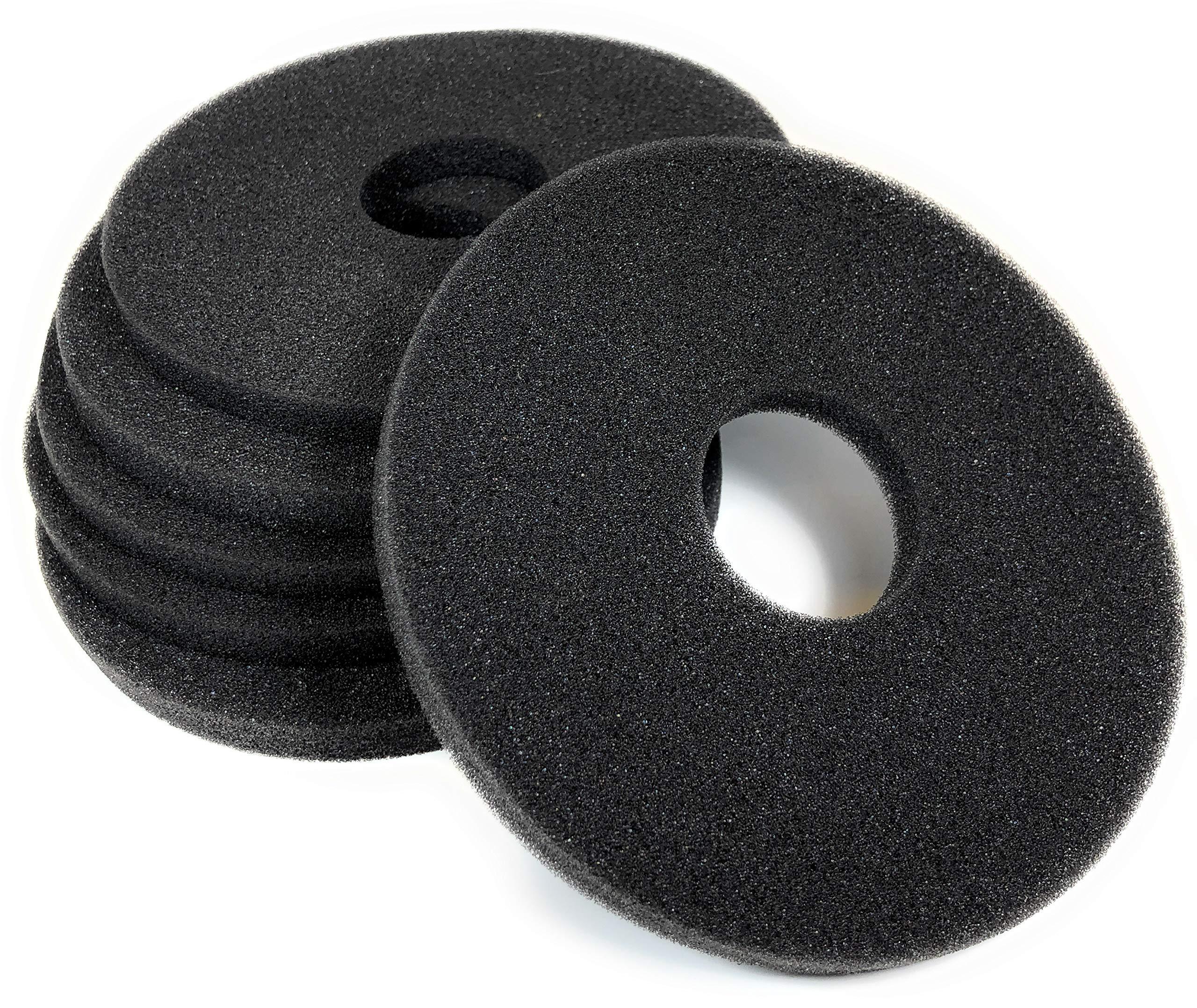 Margarita Salt Glass Bar Rimmer Replacement Sponges Set of 6, Black by SUMMIT Salt Rimmer Replacement Sponges
