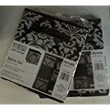 System Build Cube Storage Damask Pattern Fabric Bins Package Of 2