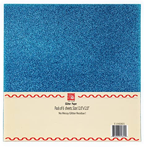 YZH Crafts Glitter Cardstock Paper,No-Shed Shimmer Glitter Paper Black 10 Sheets,250GSM, 12 Inch by 12 Inch