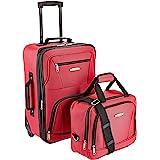 Rockland Fashion Softside Upright Luggage Set, Red, 2-Piece (14/19)