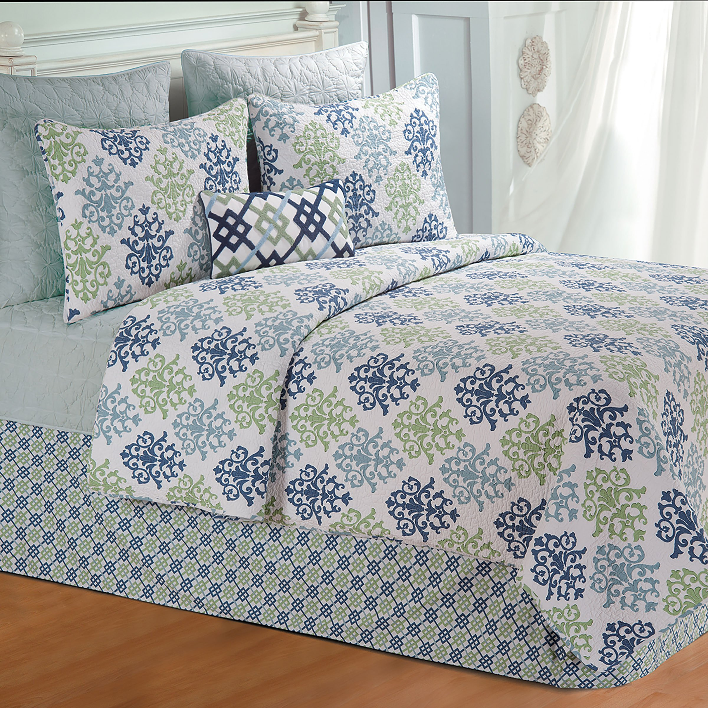 90'' x 92'' Full/Queen Quilt, Shabby Chic Blue by C&F Home