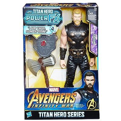 Marvel- Titan Y Mochila Power Fx Thor - Versión Portuguesa (Hasbro E0616EW0): Juguetes y juegos