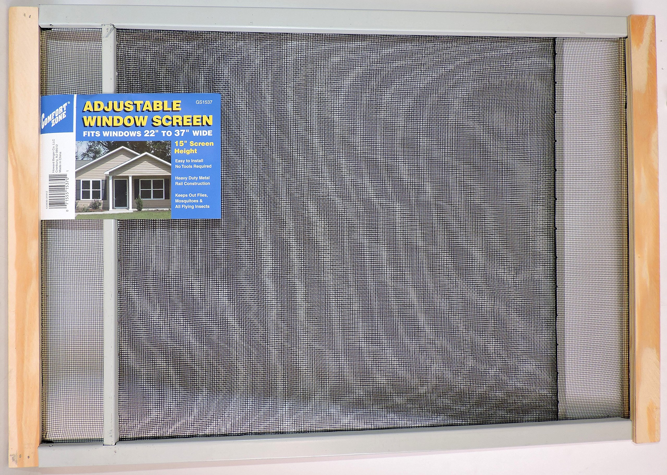 15'' High Adjustable Window Screen 22'' to 37'' Wide