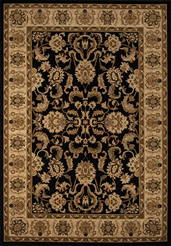 Momeni Rugs Royal Collection, 1 Million Point Power Loomed Traditional Area Rug, 2 x 3 3 , Black