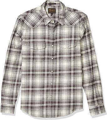Lucky Brand - Camisa de Manga Larga para Hombre, diseño de Papá Noel, Color Gris: Amazon.es: Ropa y accesorios