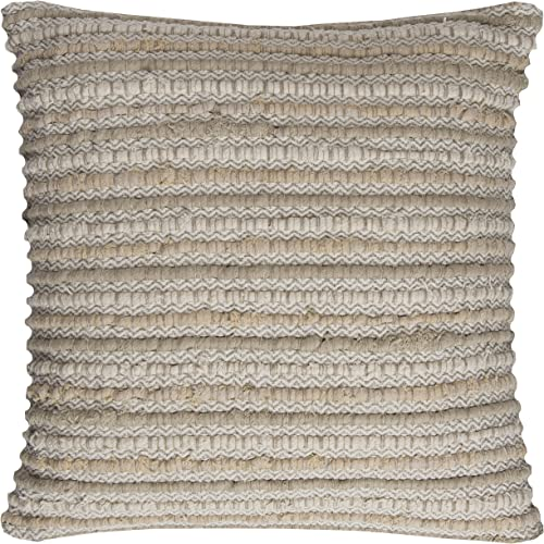 Rizzy Home T11559 Decorative Pillow, 20 X20 , Neutral Brown Gray