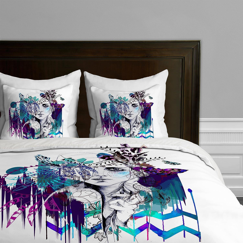 Deny Designs Holly Sharpe Tribal Girl Colourway Duvet Cover King 13643-duwkin