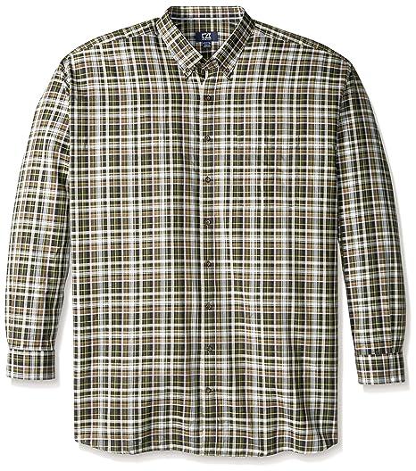 2e8de02c Cutter & Buck Men's Big-Tall Long Sleeve Hansen Plaid Woven Shirt