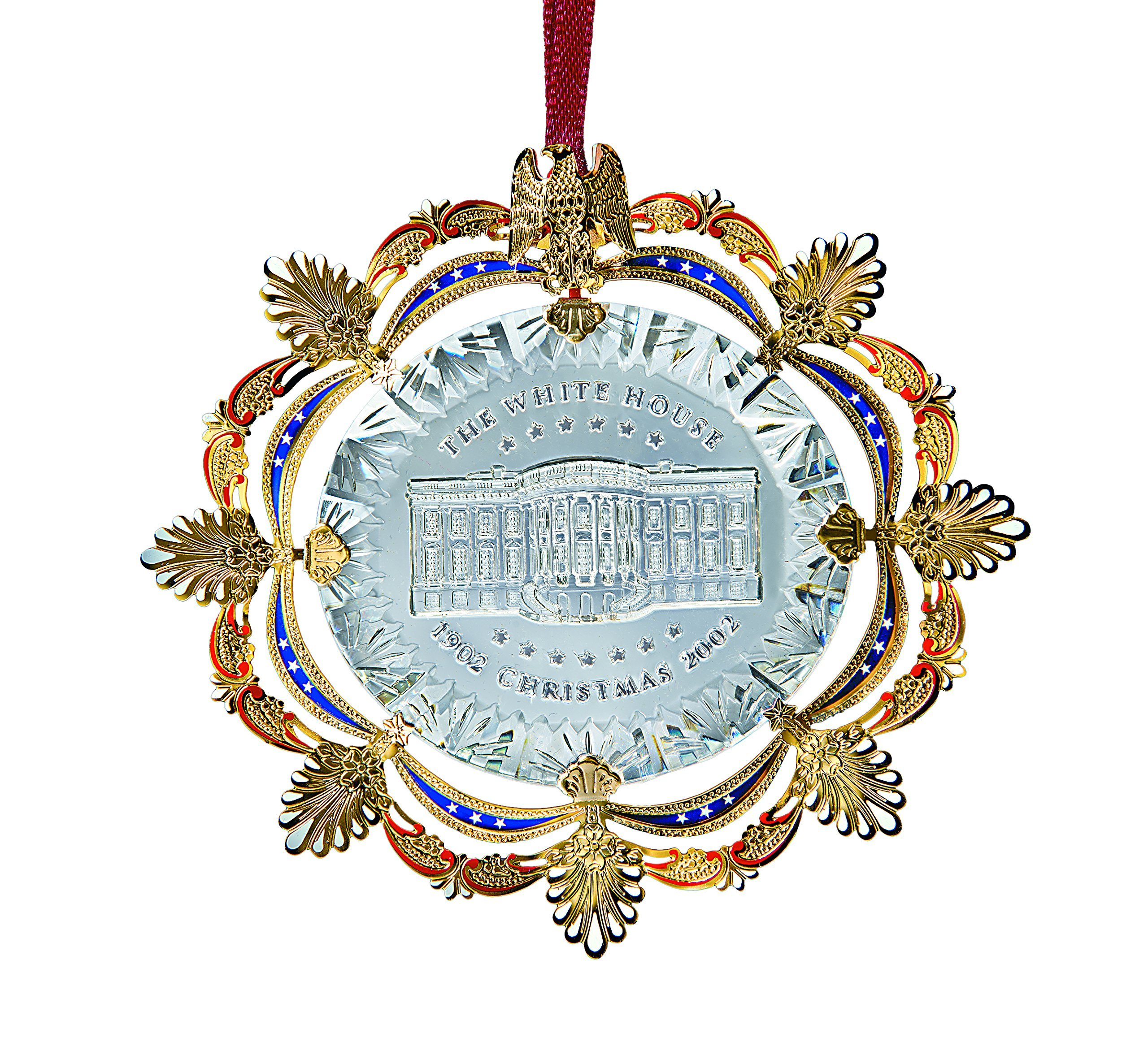2002 White House Christmas Ornament, The East Room In 1902