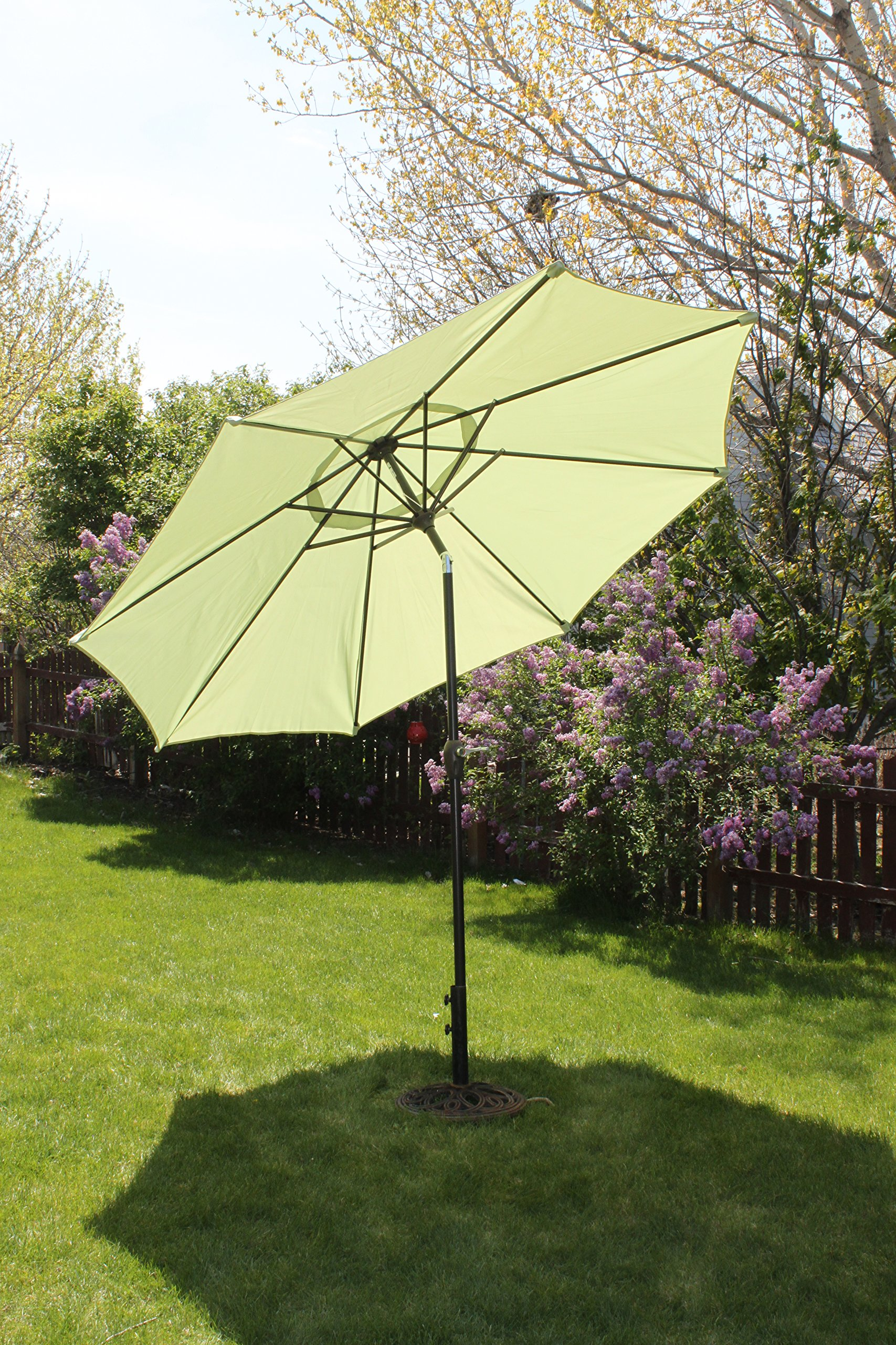 9' Market Patio Umbrella with Tilt and Crank - Light Lime Green - 9' Patio Market Umbrella This Patio Umbrella has a Vented Top for Wind This Patio Umbrella has a push Tilt mechanism - shades-parasols, patio-furniture, patio - A1k9PpkNh L -