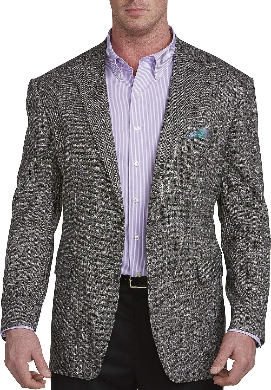 Oak Hill by DXL Big and Tall Jacket Relaxer Textured Sport Coat Executive Cut, Black, 3XLP