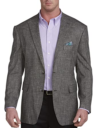 adc4c84bfa7 Oak Hill by DXL Big and Tall Jacket Relaxer Black White Textured Sport Coat