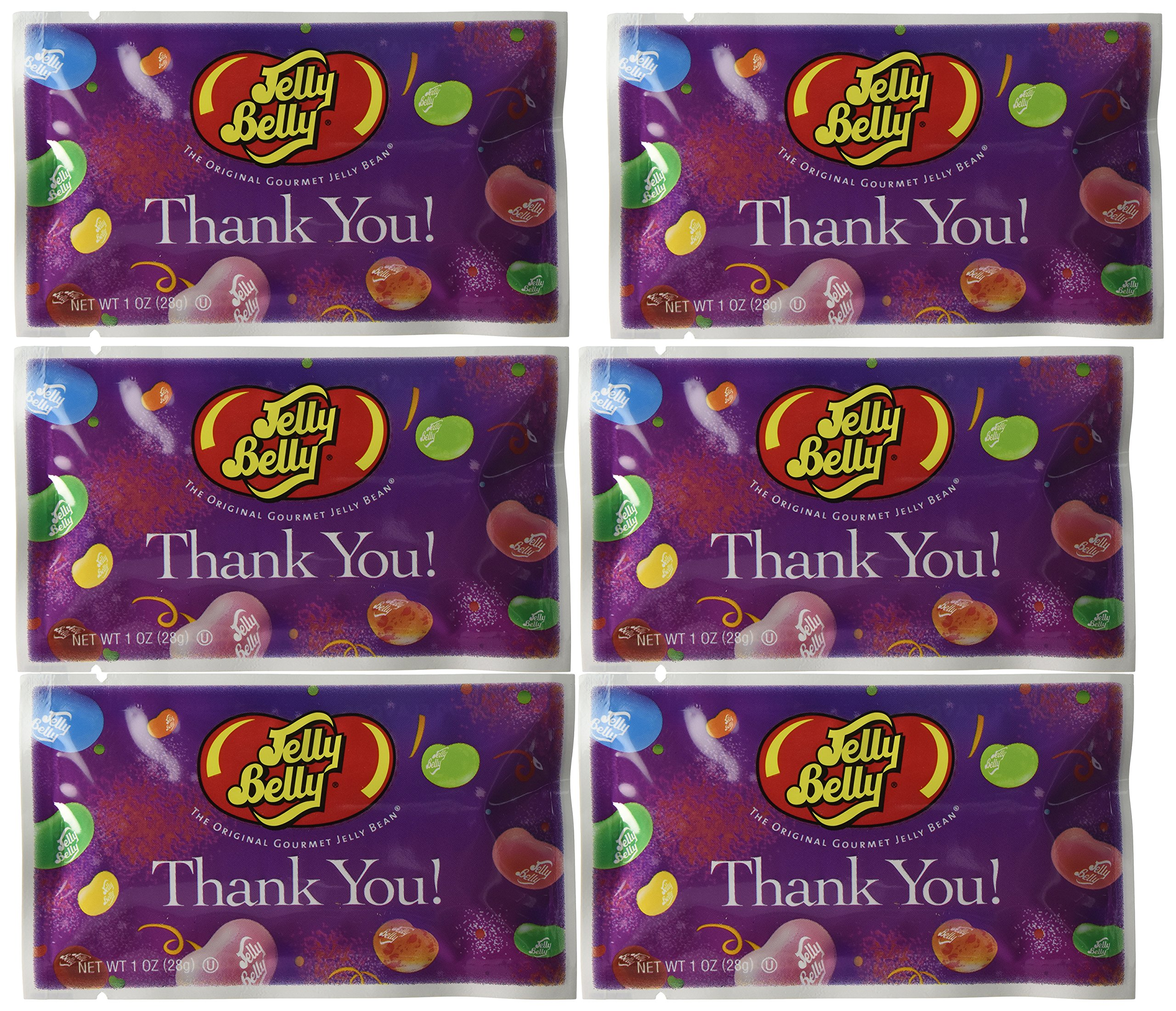 Thank You Assorted Flavors Jelly Beans - 1 oz. Bag - 30-Count Case