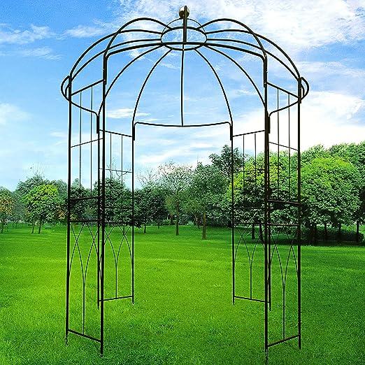 outour 4 lados jaula forma Metal Gazebo enrejado arco de hierro ...
