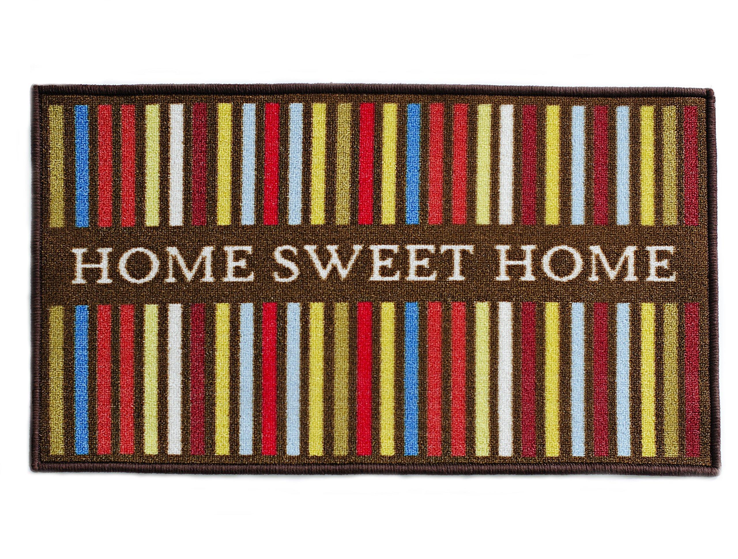 Totem Ideas HOME SWEET HOME Indoor Welcome Mat, Front Door Mats, Non Slip Rubber Backing Doormat, Waterproof and Machine Washable