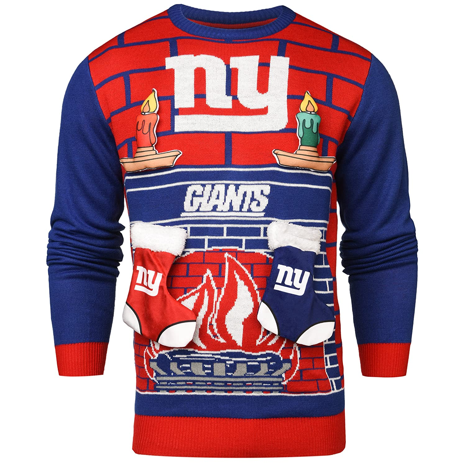 Amazon.com : FOCO New York Giants Ugly 3D Sweater - Mens Large ...