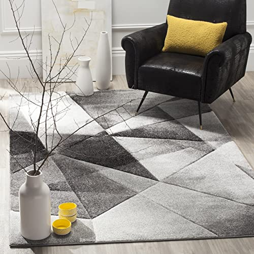 Safavieh Porcello Collection PRL6939D Modern Abstract Geometric Art Light Grey and Charcoal Area Rug 4 x 6