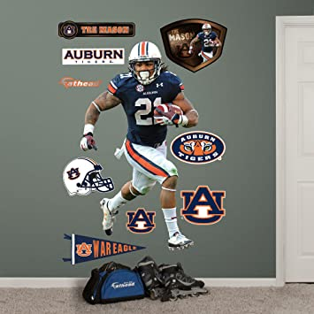 NCAA Auburn Tigers Tre Mason Fathead Wall Decal, Real Big