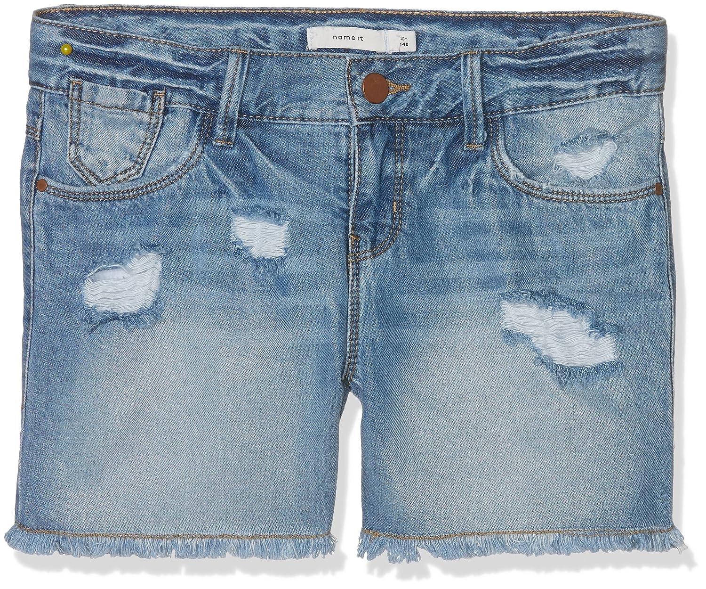 Name It Nitbaran Reg Dnm Shorts Lmtd, Pantaloncini Bambina Blu (Light Blue Denim Light Blue Denim) 146 13141987