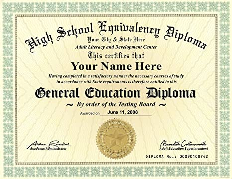 Amazon.com : GED Diploma - General Education High School Diploma ...