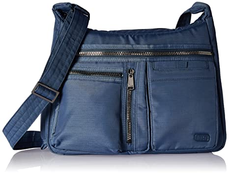 fcb6a76f4137 Amazon.com: Lug Women's Double Dutch Cross-Body Bag, Brushed Blue ...