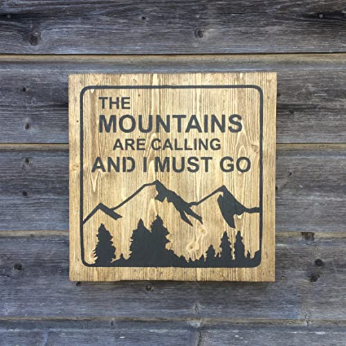 The Mountains are calling and I must go - Wood sign - Wall decor ...
