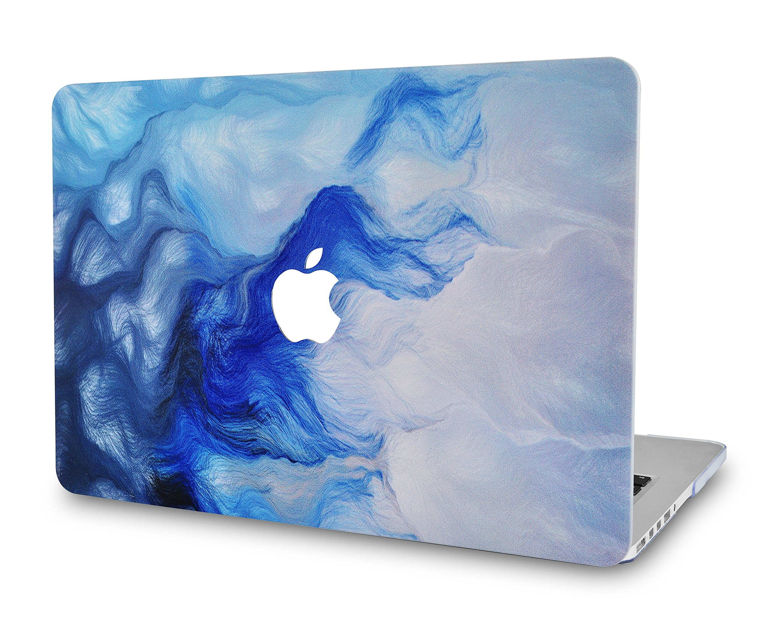 LuvCase Rubberized Plastic Hard Shell Case Cover Compatible MacBook Air 13 Inch A1466 & A1369 (No Touch ID) (Mist 12)