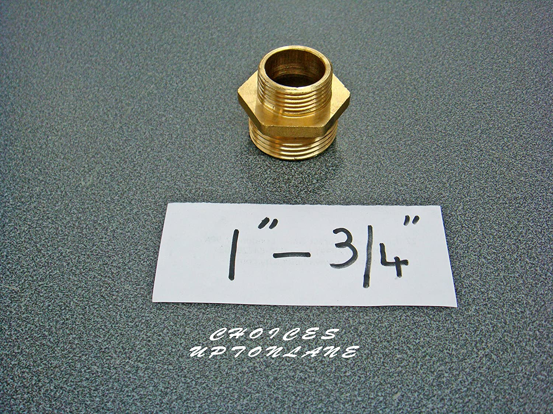 Laiton laiton r/éduction hexagonal Mamelon m/âle vers m/âle BSP Diff/érentes tailles cuivr/é REDUCING NIPPLE SIZE: 1 X 1//2