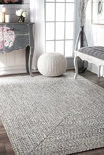 nuLOOM Lefebvre Braided Indoor Outdoor Rug, 3 x 5 , Light Grey