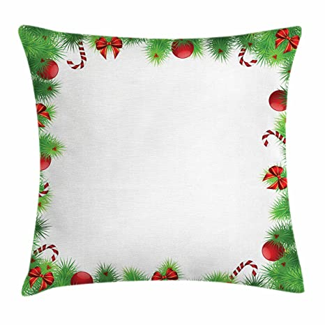 Amazon.com: Ambesonne Christmas Throw Pillow Cushion Cover, December ...