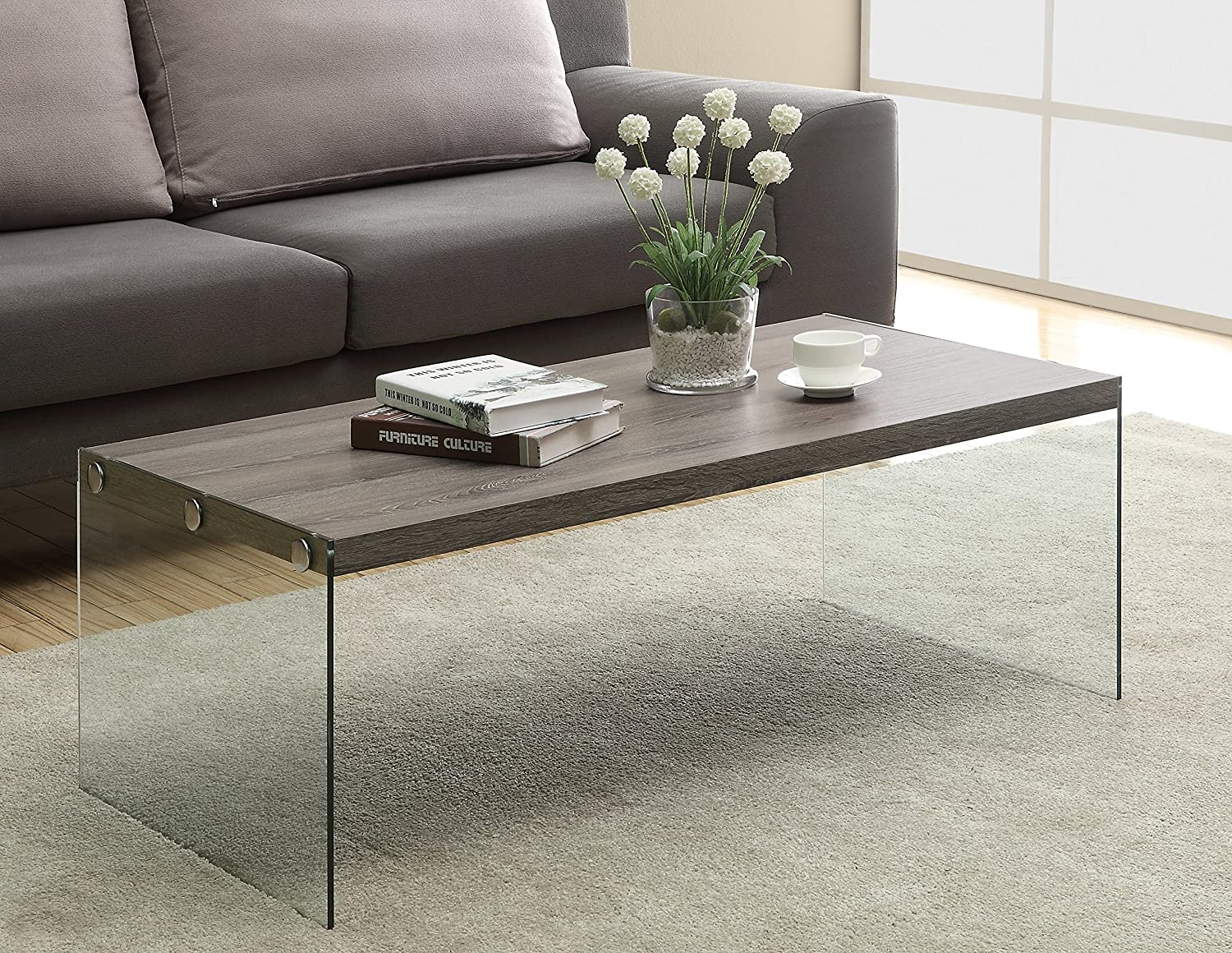 Amazon Monarch specialties I 3054 Coffee Table Tempered