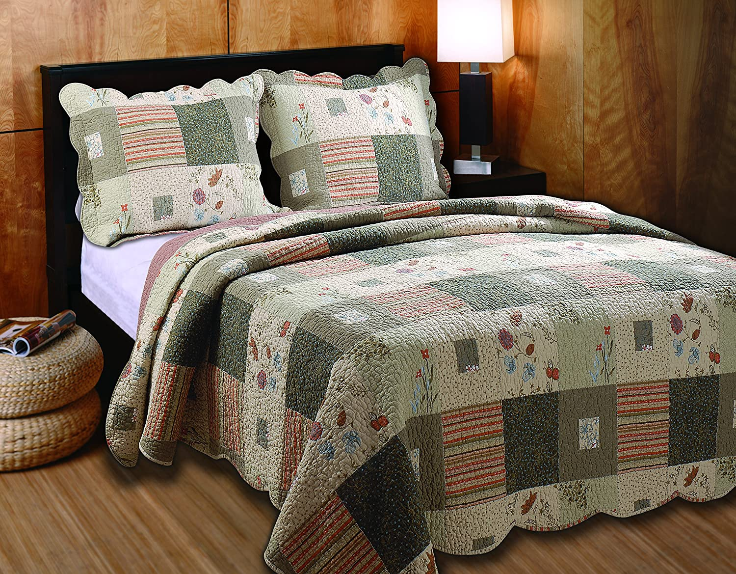 Greenland Home Sedona Full/Queen 3-Piece Quilt Set GL-1010GQ