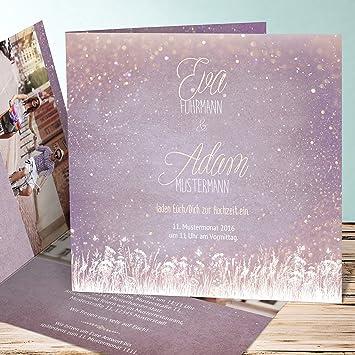 Hochzeitseinladung Drucken Zauberlicht 25 Karten Quadratische