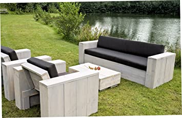 Amazon.de: Bauholz Möbel Gartenmöbel Garnitur Lounge Set 1x Tisch