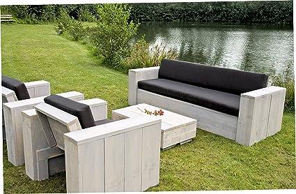 Amazon.de: Bauholz Möbel Gartenmöbel Garnitur Lounge Set 1x ...