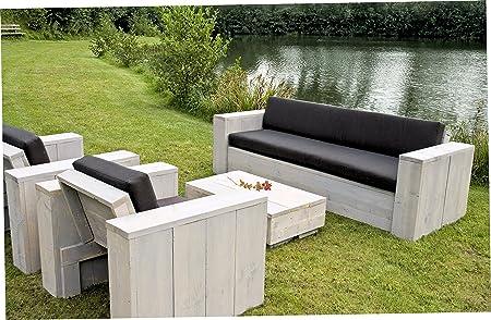 Amazon.de: Bauholz Möbel Gartenmöbel Garnitur Lounge Set 1x Tisch 2x ...