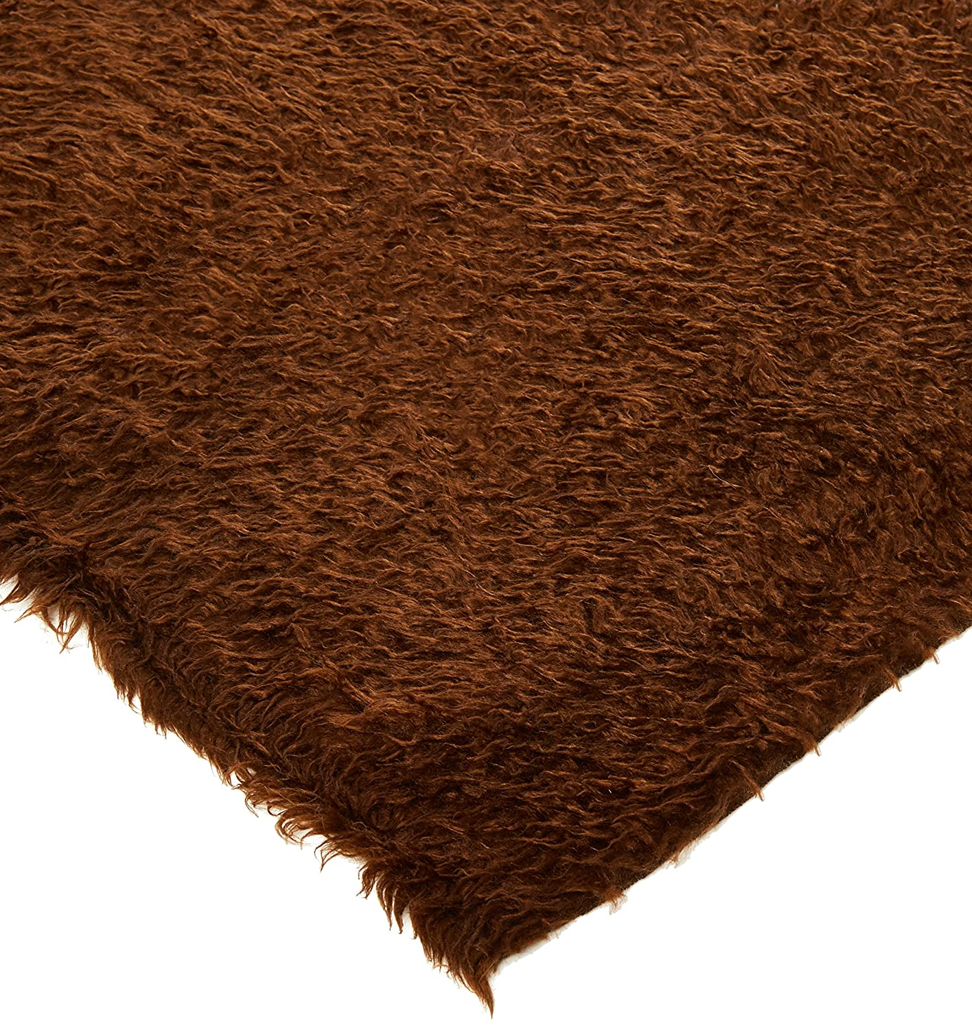 BRIGHT RED CURLY Teddy Faux Fur Fabric Material