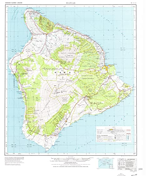 Amazon.com : YellowMaps Hawaii HI topo map, 1:250000 Scale, 1 X 2 ...