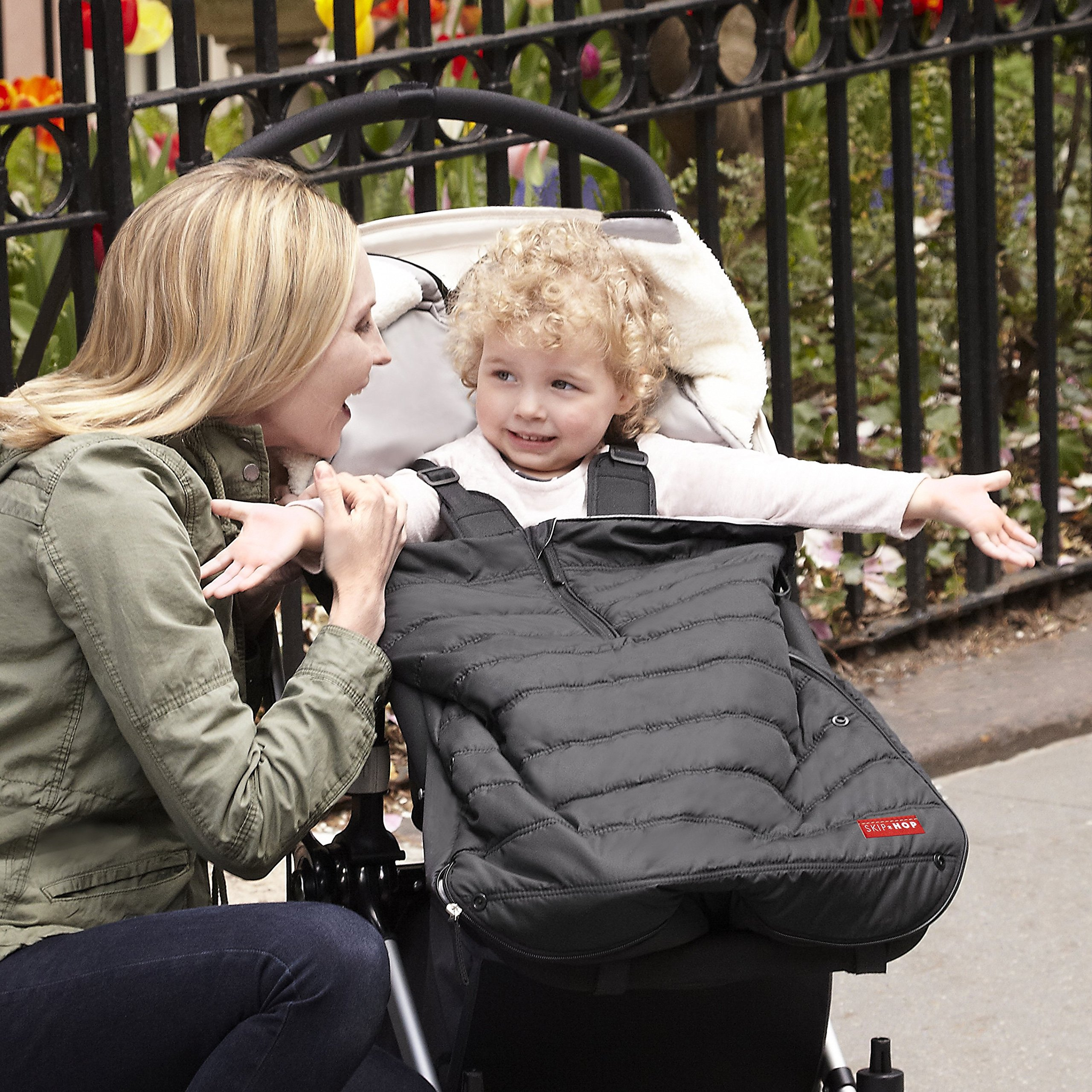 Skip Hop Stroll-and-Go Three-Season Stroller Footmuff, Toddler, Black by Skip Hop (Image #4)
