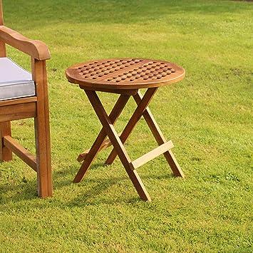 Folding Teak Side Table.Kingfisher Fswset16 Folding Teak Side Table Outdoor Garden Furniture Transparent One Size