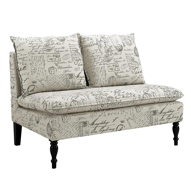 Magnificent Pulaski French Script Settee Banquette Chair Biege Ibusinesslaw Wood Chair Design Ideas Ibusinesslaworg