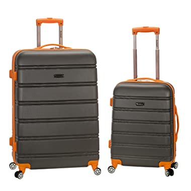 Rockland 20 , 28  2pc Expandable Abs Spinner Set, Charcoal