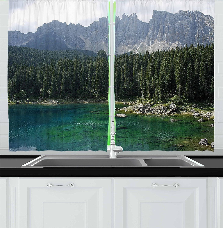 Naturaleza cortinas por Ambesonne, antena View de bosque de ...